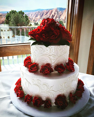Tier Buttercream Wedding Cake