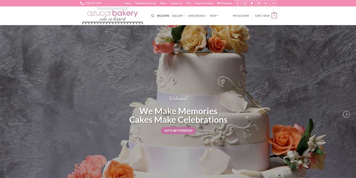 Azucar Bakery Website