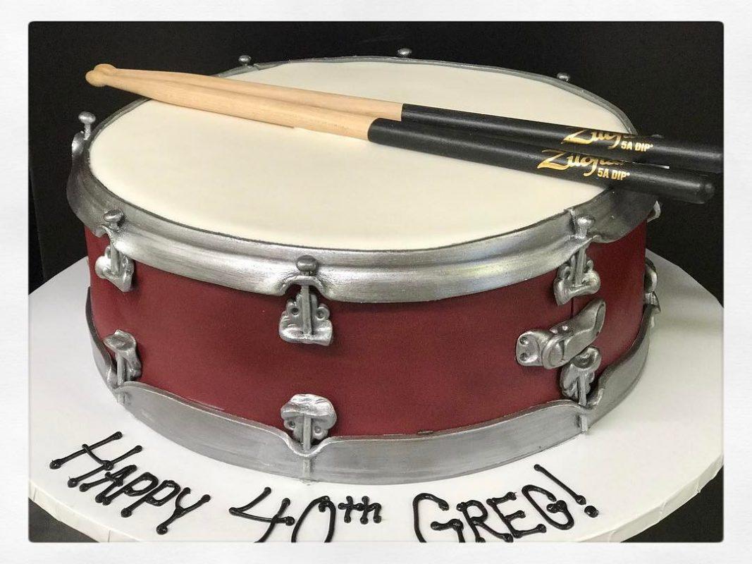 Outstanding Terrific Drums Birthday Cake Photos Birthday Cake Blackboots Funny Birthday Cards Online Aboleapandamsfinfo