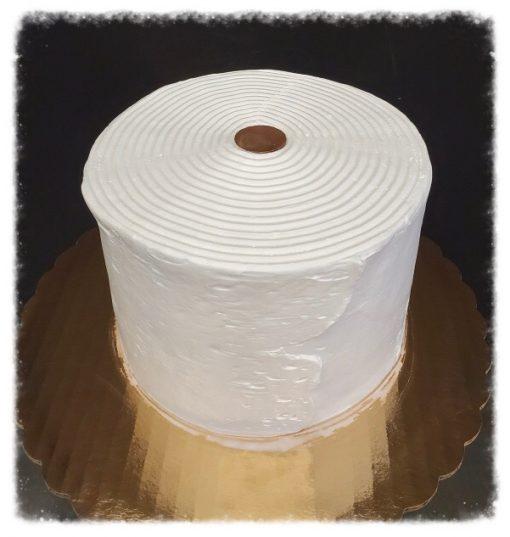 toilet paper design cake