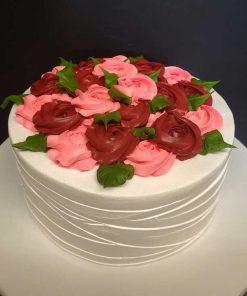 Valentines Rose Cake